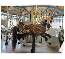 Armored Carousel Horse - Butchart Poster