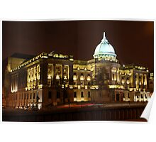 The Mitchell Library, Glasgow at Night Poster