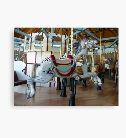 Carousel Crane Horse - Butchart Canvas Print
