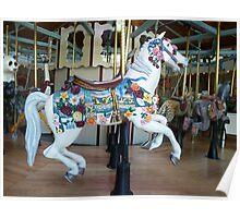 Carousel Flower Horse - Butchart Poster