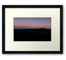 Uluru, Ayers Rock, Sunset & Moon Rise Framed Print