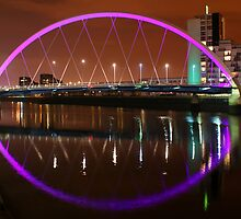 Glasgow's Squinty Bridge at Night by David Alexander Elder