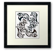 Twin Smoke Dragons Framed Print