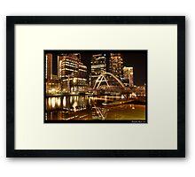 Golden HDR Framed Print