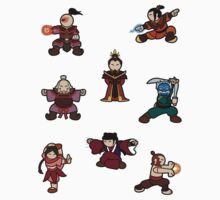 ATLA Mini Stickers: Fire Nation by Joumana Medlej