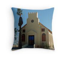 a church in Usakos Throw Pillow