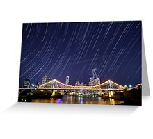 Brisbane City Startrails Greeting Card