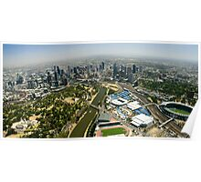 Melbourne Sports District Aerial Poster