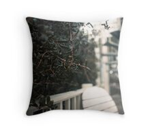 Below the Crows Nest Throw Pillow
