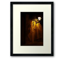 Prague Shadows Framed Print