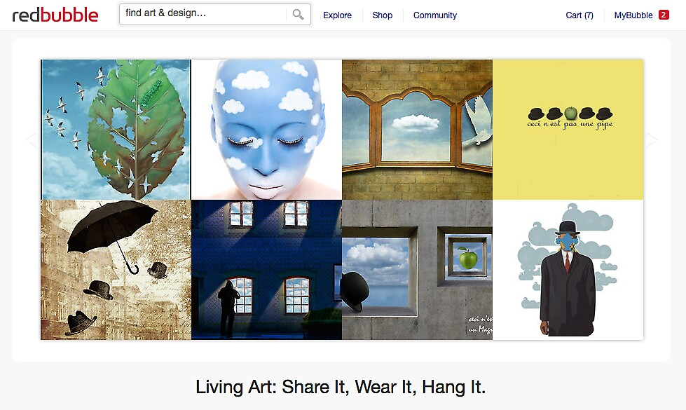 After Magritte - 20 November 2011 by The RedBubble Homepage