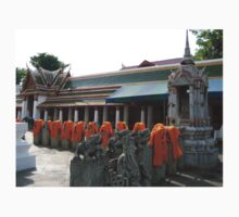 Kasaya Off the Backs of Buddhist Bhikkhu One Piece - Short Sleeve