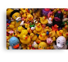 Flock Of Ducks: 01 Canvas Print