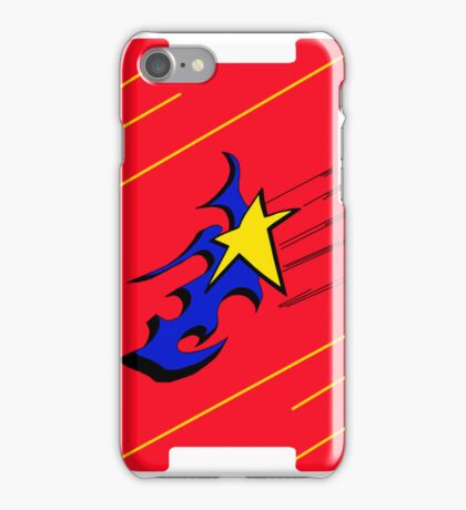 shooting star red iPhone Case/Skin