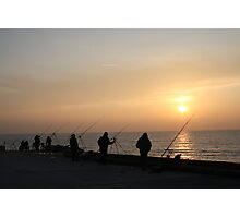 Men Fishing Photographic Print
