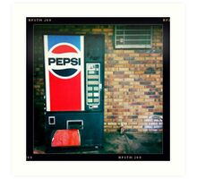 Pepsi Vending Machine Art Print