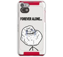 Forever Alone Face MEME iPhone Case/Skin