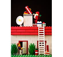 Who's That Up On The Roof? Photographic Print
