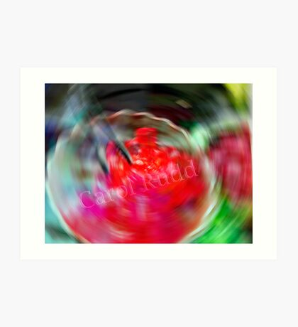Swirling Jello Art Print
