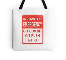 Git Emergency Tote Bag
