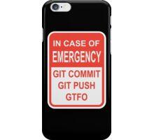 Git Emergency iPhone Case/Skin