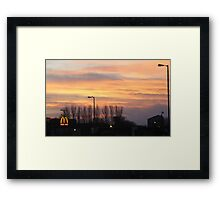 Two great views... Framed Print