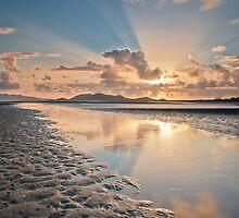 Sun Up at Low Tide at Bushland Beach by PhotoByTrace
