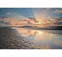 Sun Up at Low Tide at Bushland Beach Photographic Print