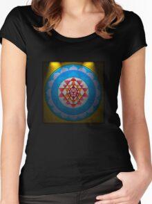 Sri Chakra Women's Fitted Scoop T-Shirt