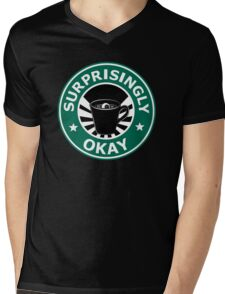Sherlock's Coffee (Surprisingly Okay) Mens V-Neck T-Shirt