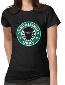 Sherlock's Coffee (Surprisingly Okay) Womens Fitted T-Shirt
