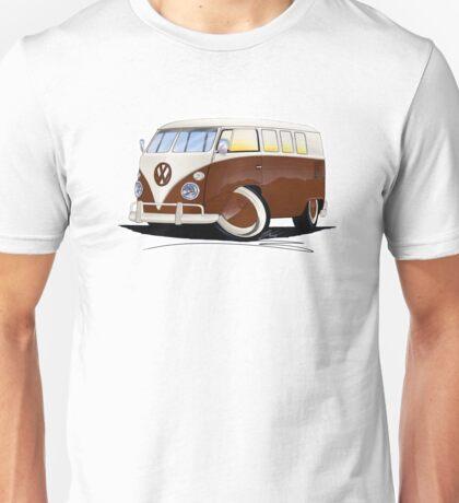 VW Splitty (11 Window) Brown Unisex T-Shirt