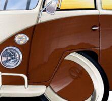 VW Splitty (11 Window) Brown Sticker