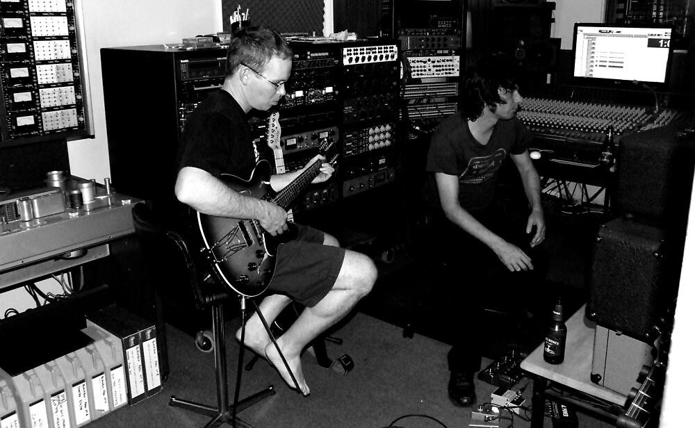 Weezal in the studio by Mark Batten-O'Donohoe