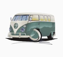 VW Splitty (11 Window) Pistachio Kids Tee