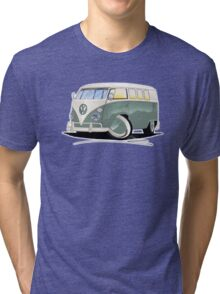 VW Splitty (11 Window) Pistachio Tri-blend T-Shirt