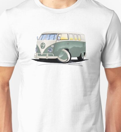 VW Splitty (11 Window) Pistachio Unisex T-Shirt