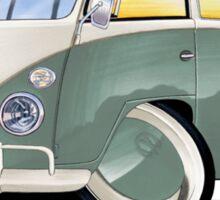 VW Splitty (11 Window) Pistachio Sticker