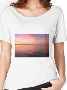 Morning Serenity on the Gulf Shore Women's Relaxed Fit T-Shirt