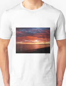 Sky Ablaze on the Texas Gulf T-Shirt