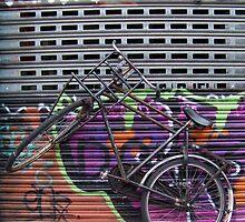 Biked Grafitti Fence by AnnoNiem