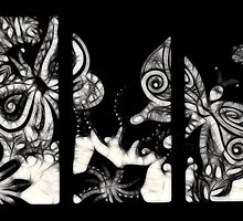Butterfly tryptic by KalonaCreations