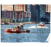 Fire Rescue Boat Hudson River Poster