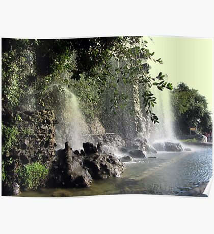 Waterfalls in Nice Poster