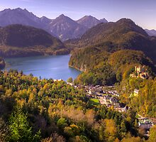 Alpsee, Schwansee and Hohenschwangau Castle by Stanley Tjhie