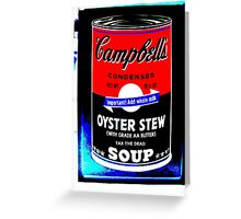 campbells-soup-can-red-tax-the-dead Greeting Card
