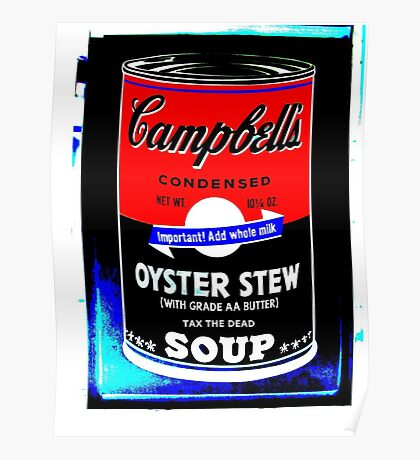 campbells-soup-can-red-tax-the-dead Poster