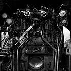 Footplate Black 5 Steam Engine by Les Forrester