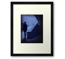lonely walk Framed Print
