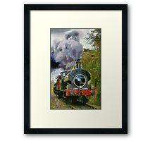 Locomotive à vapeur  Framed Print